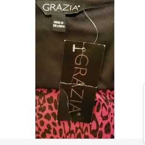 Grazia Tops - {Grazia} Red & Black Animal Print Top